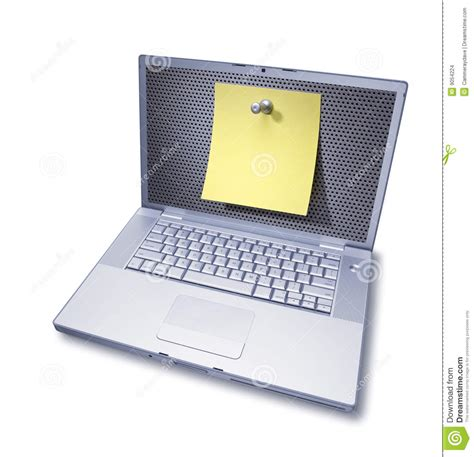 post it bureau pc computer post it note contact me stock images image 9054224