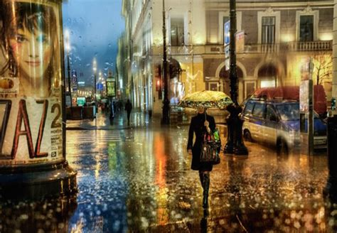 Beautiful Photographs of Dreamy Rainy City Scenes that