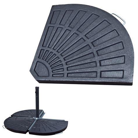 aged metal  patio umbrella stand lb resin base