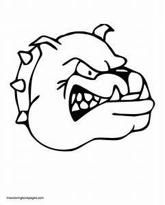 Angry Bulldog Head Coloring Page - Animal - Drawings Of ...
