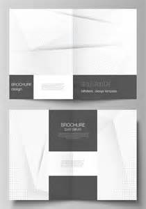 Templates for bifold brochure. halftone dots, abstract