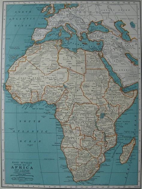 Umbra mappit wall decor, black. 1939 MAP of AFRICA Map Gallery Wall Art Library Decor ...