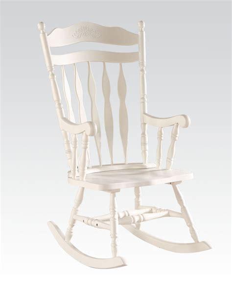 acme furniture white rocking chair ac59227
