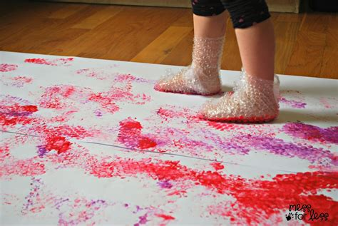 bubble wrap stomp painting fun family crafts