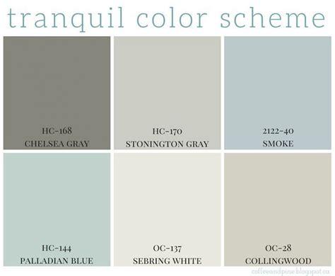 tranquil color scheme calming colors