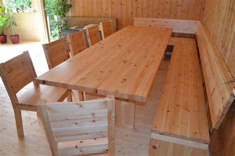 eckbank mit rückenlehne selber bauen holz sigi zirbenholz