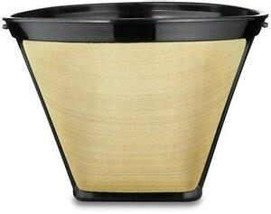 Reusable gold tone permanent cone shape coffee filter mesh basket coffee maker. 2 Pack Gold Tone #2 Permanent Cone Coffee Filter F08-LG02 ...