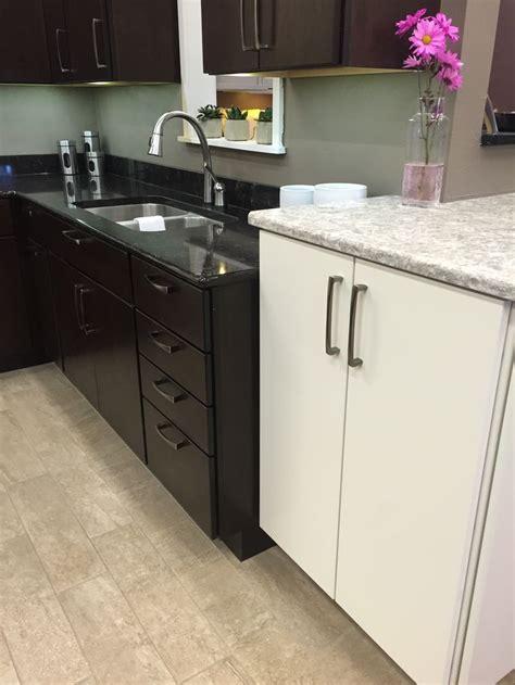 northern classic cabinetry monarch cherry espresso door  lg viatera quartz countertop