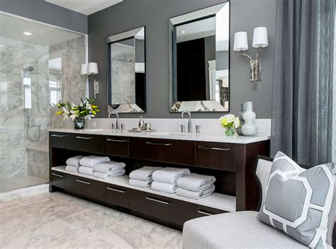 Atmosphere Interior Design  Bathrooms  Gray Walls, Gray