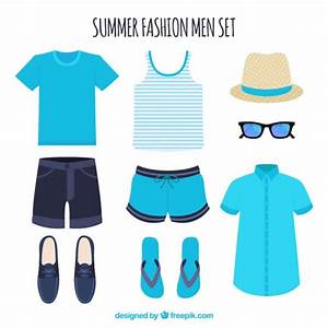Set of summer clothes for man Vector | Free Download