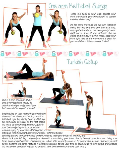 kettlebell workouts workout printable turkish arm schedule getup routines swings fitness exercises kettlebells tone swing abs training weekly exercise arms