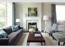 Gray Velvet Sofa Transitional living room Kelly Deck