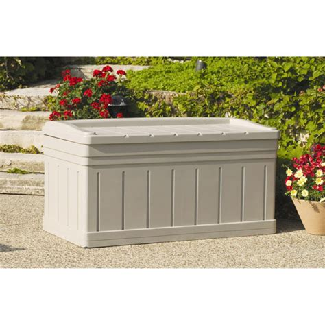 suncast deck box with seat suncast 129 gallon deck box with seat walmart