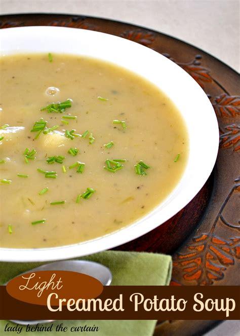 light potato soup light creamed potato soup