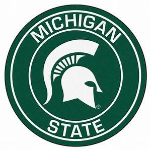 "Michigan State University Spartans Logo Roundel Mat - 27"""
