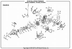 Homelite Ry34421 30cc String Trimmer Parts Diagram For