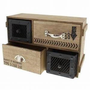 Rangement Tiroir Bois : petit meuble industriel achat vente petit meuble ~ Premium-room.com Idées de Décoration