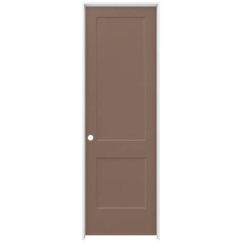jeld wen interior doors jeld wen 30 in x 96 in smooth 2 panel medium chocolate