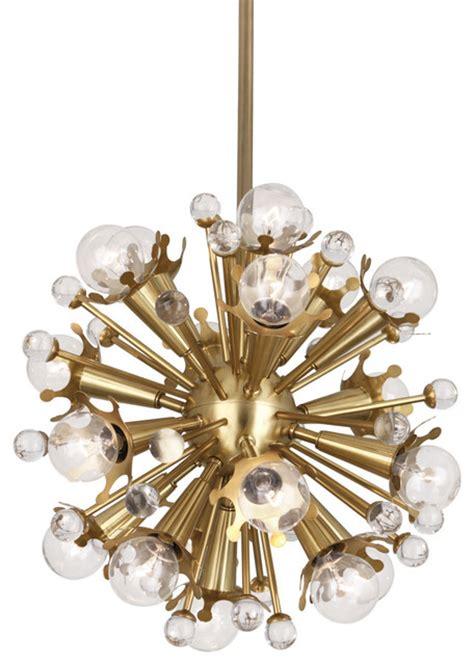 mini sputnik chandelier brass modern chandeliers by