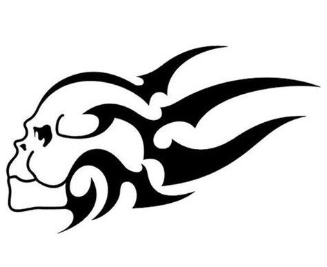 cool tribal skull tattoos