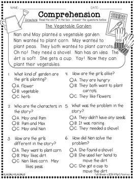 question  comprehension passages  multiple choice