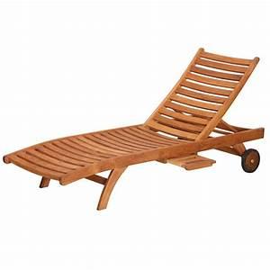 Bain De Soleil En Bois : chaise longue bois le monde de l a ~ Teatrodelosmanantiales.com Idées de Décoration