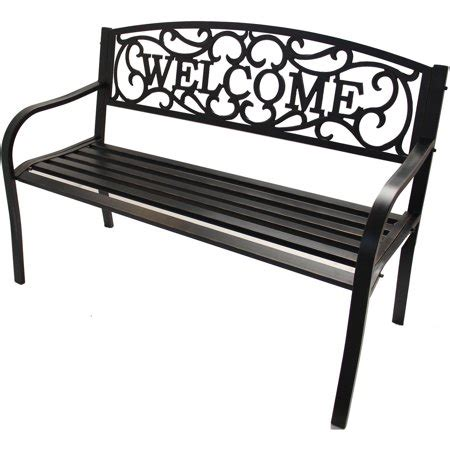 walmart garden bench better homes and gardens outdoor welcome garden bench