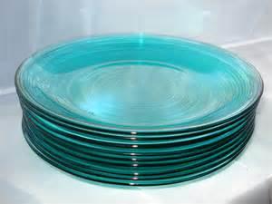 Set 9 Vintage Arcoroc France Aqua Turquoise Translucent Pretty Turquoise Dinnerware Set Color