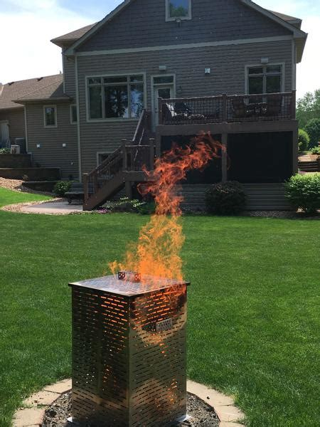 high grade large  extra large stainless steel burn