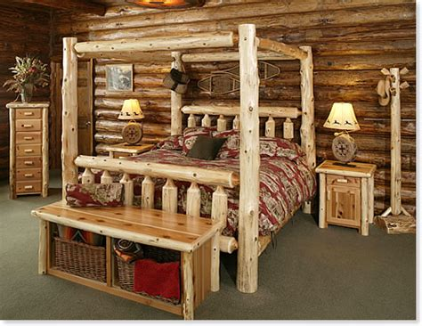 log cabin style bedroom furniture timberland canopy bed rustic furniture mall by timber creek