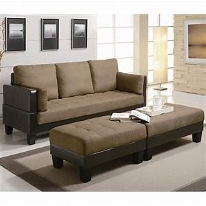 Coaster 300160 brown sofa bed and ottoman set steal a for Sofa bed and loveseat set