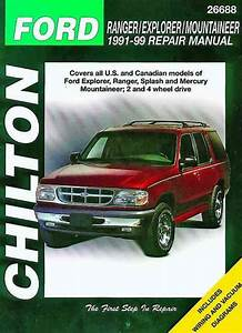 Ford Ranger Explorer Mountaineer 1991