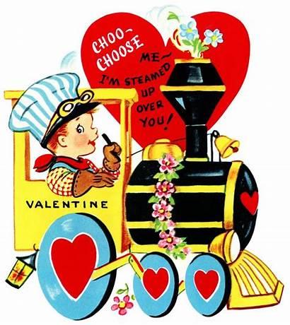 Valentine Clip Clipart Valentines Train Choose Cards