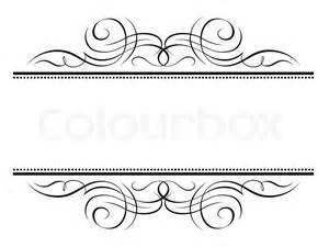 calligraphy vignette ornamental penmanship decorative frame stock vector colourbox