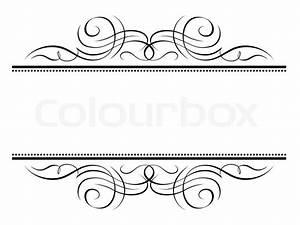 Calligraphy vignette ornamental penmanship decorative