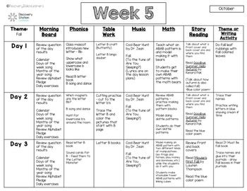 4 year preschool october lesson plans weeks 5 9 tpt 983 | original 4098720 2