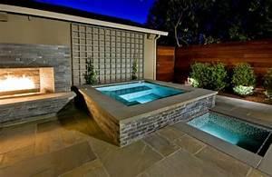 outdoor inspiration stunning design ideas for fireplaces With whirlpool garten mit zimmerpflanzen groß modern