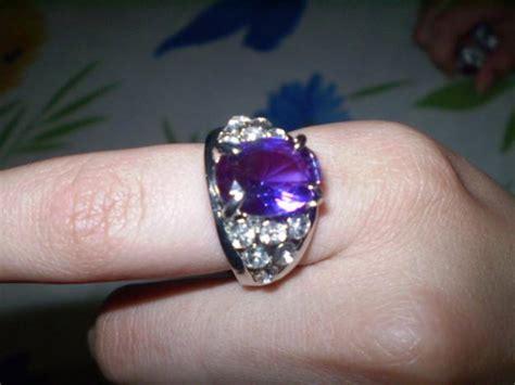 Purple Blue Zircoon Ring Angoothi Pakistani Punjabi Diamond Jewelry In Dubai Co Gemstone At Sam's Club Kundan Ebay Meena (enamel) Buy
