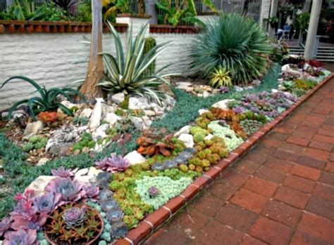 front yard landscaping  succulents builtwithpolymer