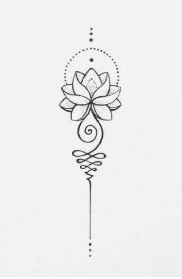 Like this flower but on the moon unalome   Lotus flower