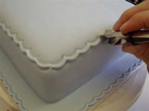 cake decoration top edge crimping tool icing youtube
