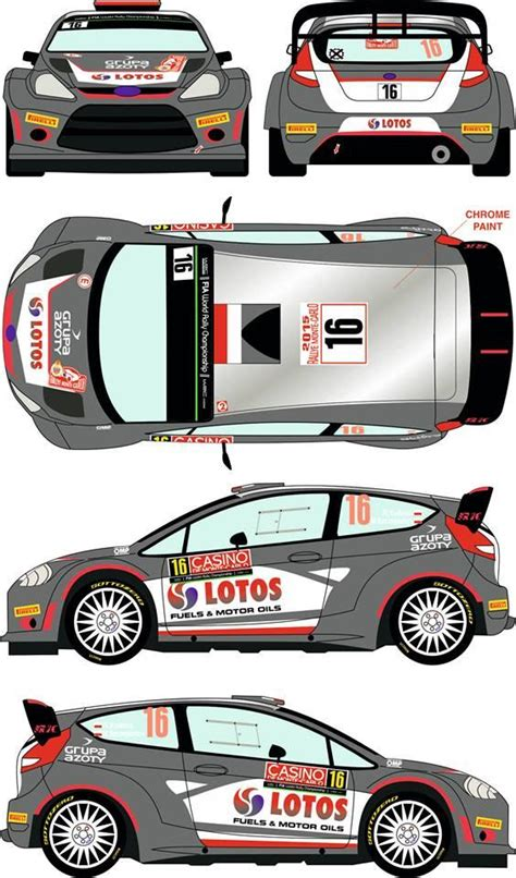 ford fiesta wrc  rally montecarlo  decals