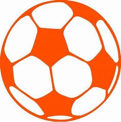 Soccer Ball Clip Clipart Orange Vector Cliparts