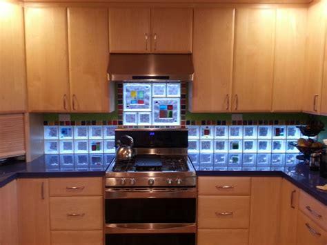 kitchen backsplash glass kitchen backsplash with glass tile blocks for light