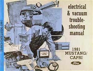1981 Ford Mustang And Mercury Capri Wiring Diagram Original