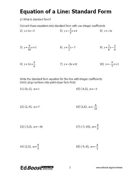 Writing Linear Equations/ Inequalites   EdBoost