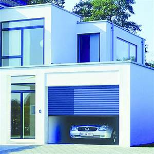 porte de garage enroulable motorisee en aluminium hormann With porte de garage enroulable jumelé avec porte de securite