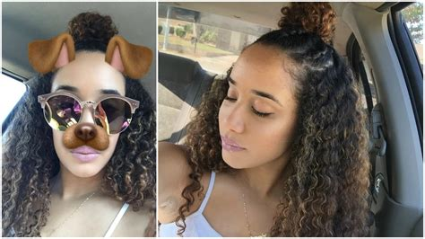 Braided Bun Hairstyle For Curly Hair