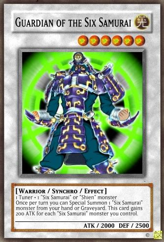 guardian of the six samurai yu gi oh card maker wiki