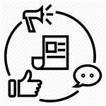 Campaign Marketing Icon Advertising Ad Getdrawings Bw